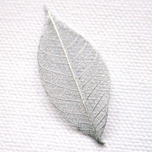 Silver Skeleton Leaf