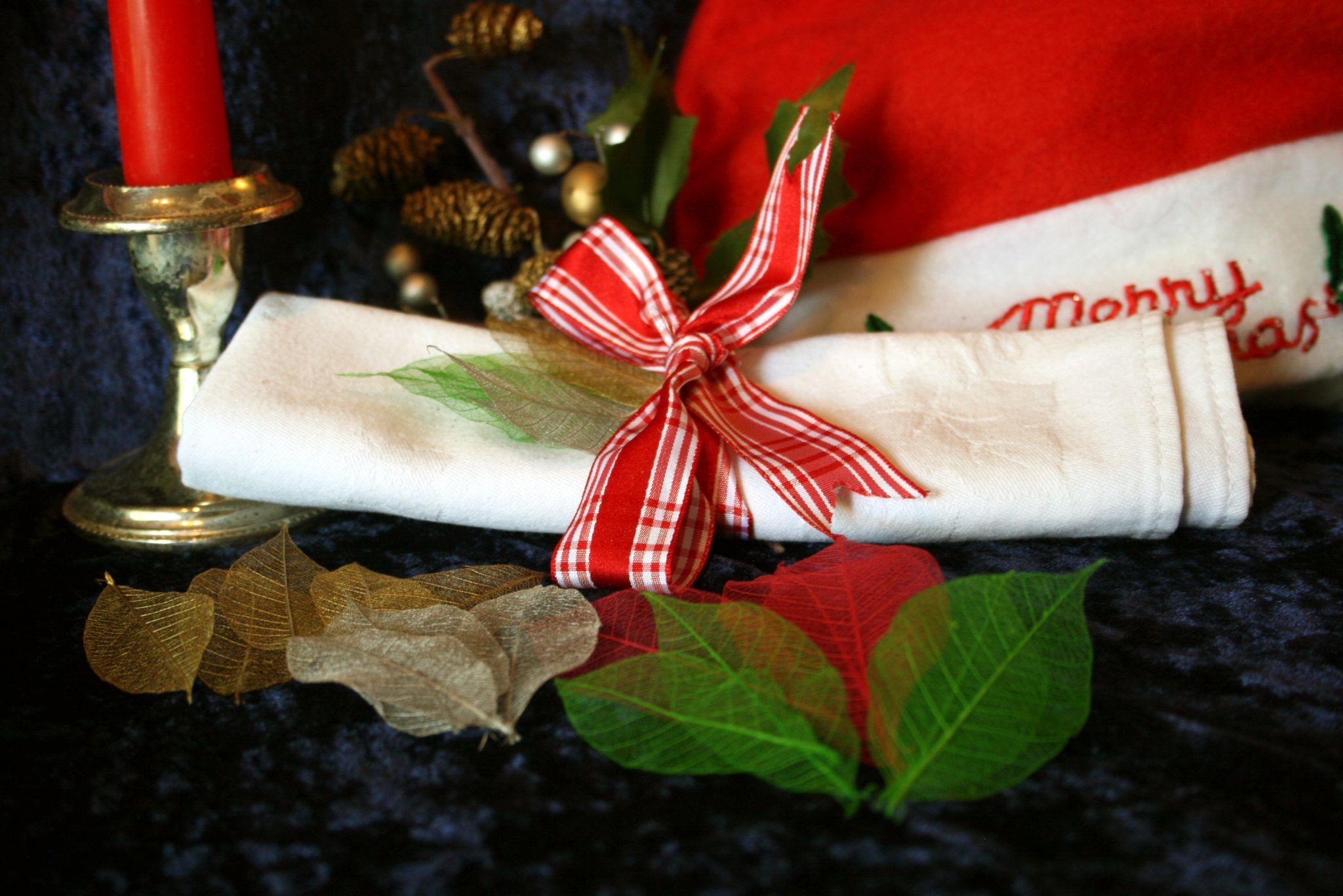 Christmas Skeleton Leaves Selection for sale