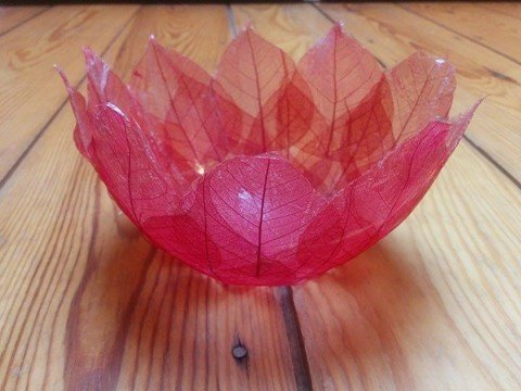 Finished Bodhi Leaf Bowl