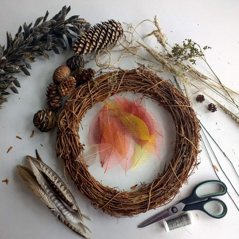 autumn wreath materials